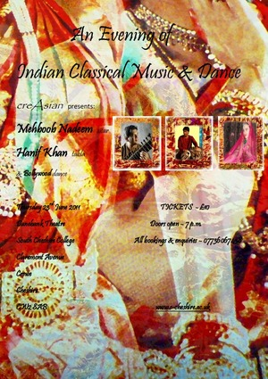 An Evening of Indian Classical Music in Crewe