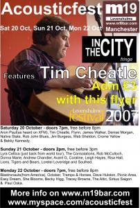 Tim Cheatle at M19 Bar In The City showcase